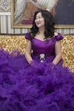 Pełna Azjatycka kobieta w luksusowej bez sukni obraz royalty free