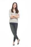 Pełna długość atrakcyjna młoda kobieta Obraz Royalty Free