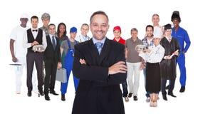 Pełna długość ludzie z różnymi zajęciami Zdjęcie Stock