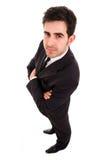 Pełna długość młody biznesowy mężczyzna fotografia stock