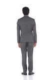 Pełna długości kłapnięcia postać, Biznesowego mężczyzna stojak w szarość Nadaje się spodnia a Obraz Royalty Free