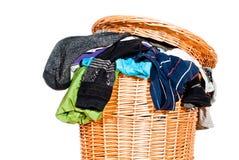 pełna kosz pralnia v1 Zdjęcia Stock