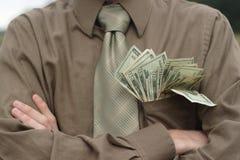 pełna pieniędzy w kieszeni Obraz Stock