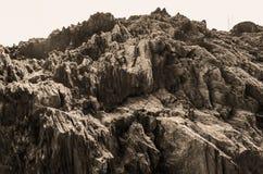 Pełna ramowa abstrakcjonistyczna skalista kamień powierzchnia Fotografia Stock