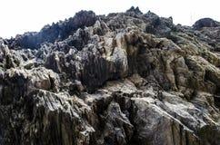 Pełna ramowa abstrakcjonistyczna skalista kamień powierzchnia Zdjęcie Stock