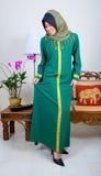 pełne dziewczyna garnitur muzułmańskiego tradycyjne young Obrazy Royalty Free