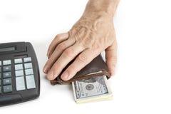 pełne pieniędzy portfel Ochrania twój savings pojęcie fotografia stock