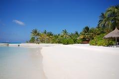 pełne plażowy wyspy księżyca Fotografia Royalty Free