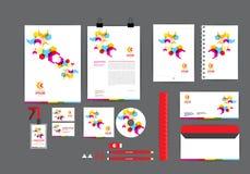 Pełnego colour korporacyjnej tożsamości szablon dla twój biznesu ilustracji
