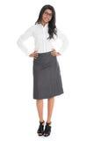 Pełnego długość amerykanina afrykańskiego pochodzenia biznesowa kobieta Zdjęcia Stock