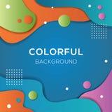 Pełnego koloru fluidu tło ilustracja wektor