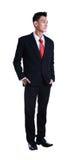 Pełnej długości biznesowego mężczyzna młoda azjatykcia pozycja zdjęcie stock