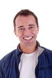 pełnoletni przystojny szczęśliwy mężczyzna środka portret Obrazy Royalty Free