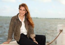 pełnoletnia atrakcyjna środkowa kobieta Fotografia Stock