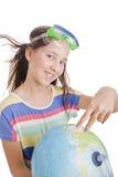 pełnoletnia dziewczyny kuli ziemskiej szkoła Zdjęcie Stock