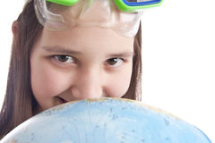 pełnoletnia pierwszoplanowa dziewczyny kuli ziemskiej szkoła Obraz Royalty Free
