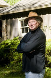 pełnoletniego modnego kapeluszowego mężczyzna środkowy starszy jard Obraz Stock