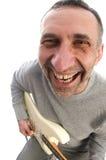 pełnoletniego oka ryba gitary mężczyzna środkowy gracza widok Obraz Royalty Free