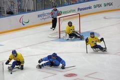 Pełnozamachowy hokej Fotografia Royalty Free