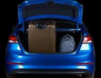 Pełny ładowny samochodowy sedanu bagażnik Zdjęcia Stock