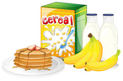 Pełny śniadaniowy posiłek ilustracji