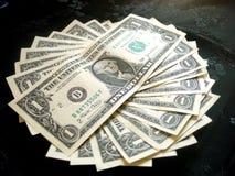 Pełny Amerykański pieniądze dolar Obrazy Royalty Free