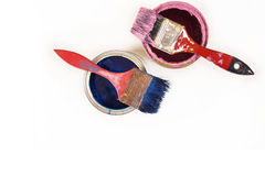 Pełny błękitni farb tines farb muśnięcia na mnie i Obrazy Stock