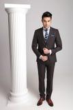 Pełny ciało obrazek elegancki biznesowy mężczyzna obrazy royalty free