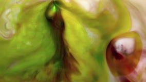 Pełny HD abstrakcyjny tło Ciekły atrament kontaminaci wybuchu zawijasa fluid zdjęcie wideo