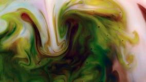 Pełny HD abstrakcyjny tło Ciekły atrament kontaminaci wybuchu zawijasa fluid zbiory