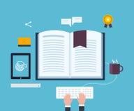 Pełny okrąg nauczanie online Fotografia Stock