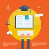 Pełny okrąg nauczanie online ilustracja wektor