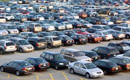 pełny parkingu partii zdjęcia stock