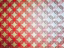 Pełny Ramowy tło Czerwona okrąg wzorzystości ściany dekoracja Fotografia Stock