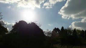 Pełny słońce w niebie Obrazy Royalty Free