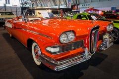 Pełnych rozmiarów samochodowy Edsel stępak Kabriolet, 1958 Zdjęcia Royalty Free