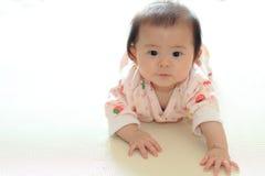 pełzająca dziecko dziewczyna Zdjęcie Royalty Free