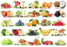 Pe клубники банана яблок яблока собрания плодоовощ плодоовощей оранжевое Стоковое Изображение