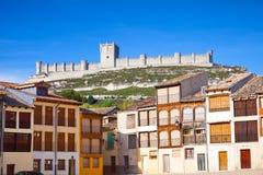 Peñafiel castle panoramic Royalty Free Stock Image