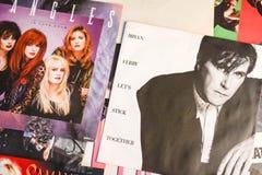 PE 45 de musique à partir de 1988 choisit le bruit et la roche de musique photographie stock libre de droits
