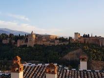 Pełna fotografia Alhambra w Granada Obraz Stock