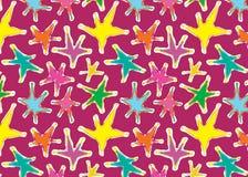 pełne deseniowe bezszwowe gwiazd gwiazdy ilustracji