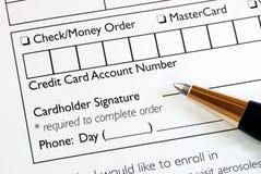 pełni karciana kredytowa informacja Zdjęcie Stock