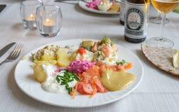 Pełni lata jedzenie w Szwecja Fotografia Stock