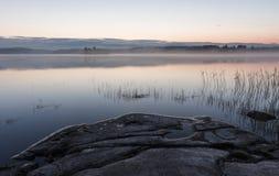 Pełni lata noc w Finlandia Fotografia Royalty Free