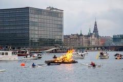 Pełni lata wigilia w Kopenhaga Zdjęcia Royalty Free