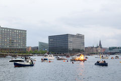 Pełni lata wigilia w Kopenhaga Obraz Stock