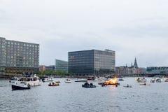 Pełni lata wigilia w Kopenhaga Zdjęcie Royalty Free