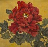 Peônia vermelha brilhante ilustração royalty free
