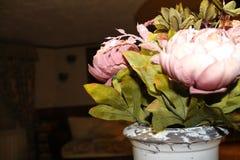 Peônias roxas não naturais Imagens de Stock Royalty Free
